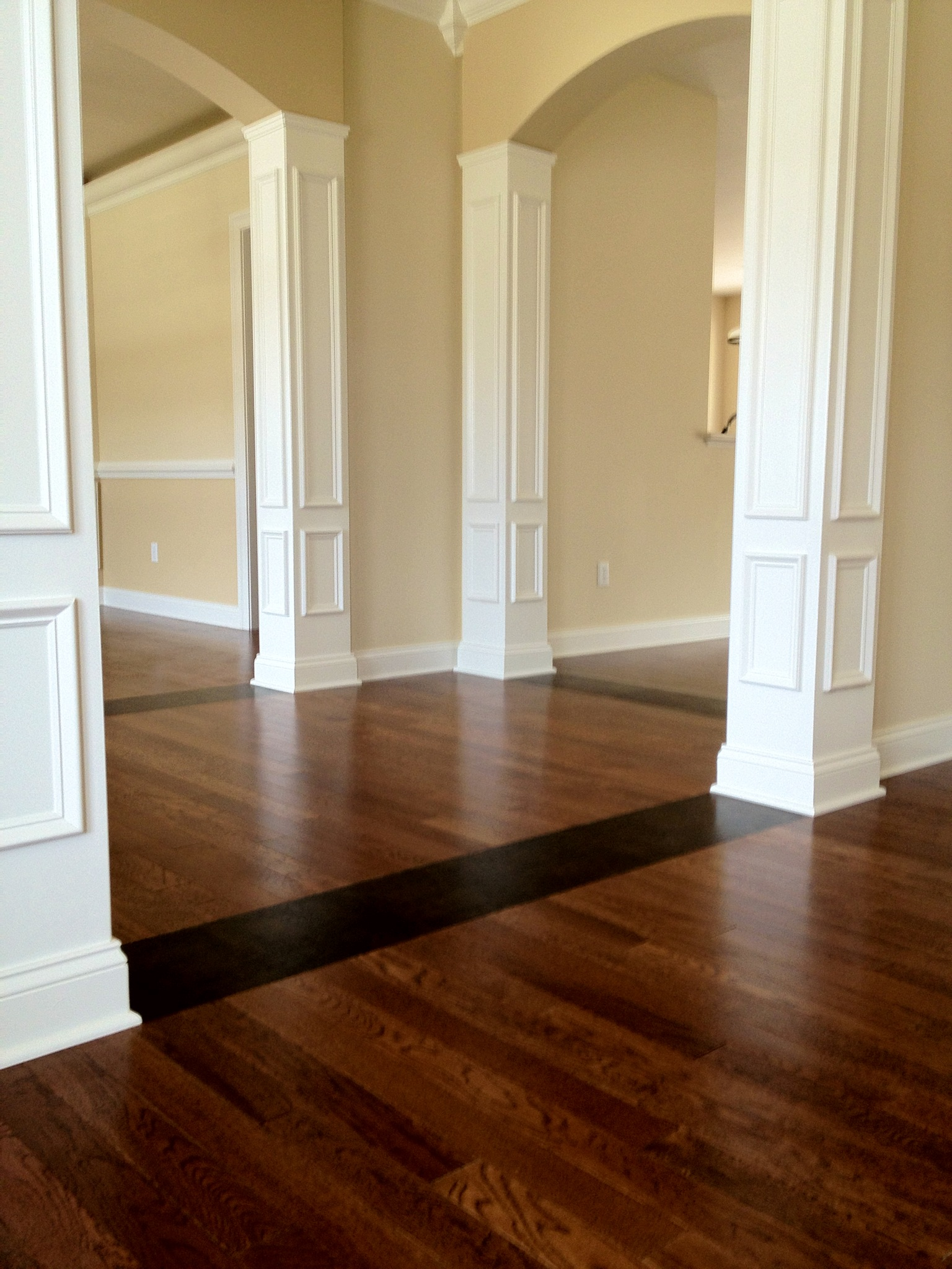 Beautiful hardwood floors with our signature touch for Md hardwood flooring