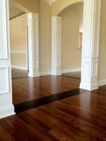 Leather Tile inset in Oak Hardwood Floor